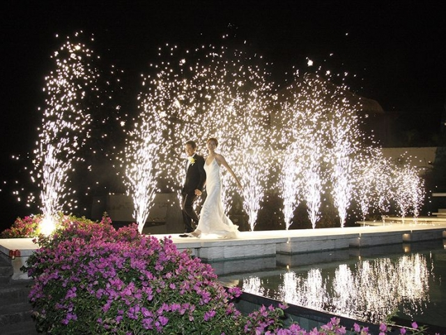 Silver Jet Pyrotechnics for you Bali wedding