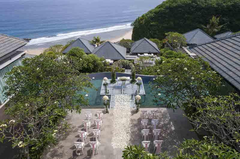 Banyan Tree Ungasan Affinity Wedding Package Aerial