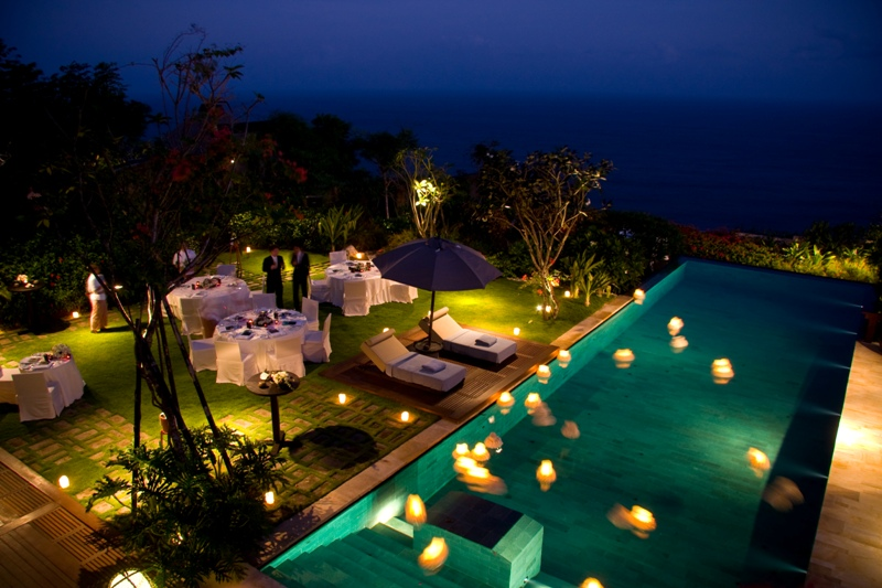 Bulgari Villa Bali Wedding Reception