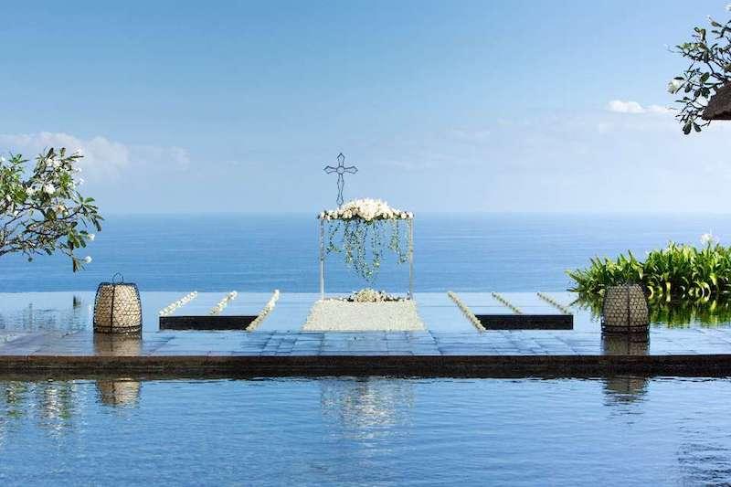 Bulgari Water Wedding Ceremony