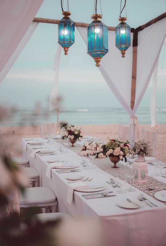 Courtyard Nusa Dua Beach Wedding Reception Dinner