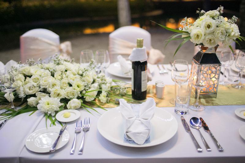 Courtyard Nusa Dua Beach Wedding Reception Dinner Decorations