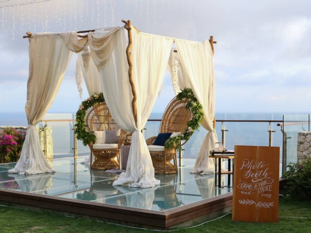 Photo Booth set up at Tirtha Uluwatu Cliff Stage