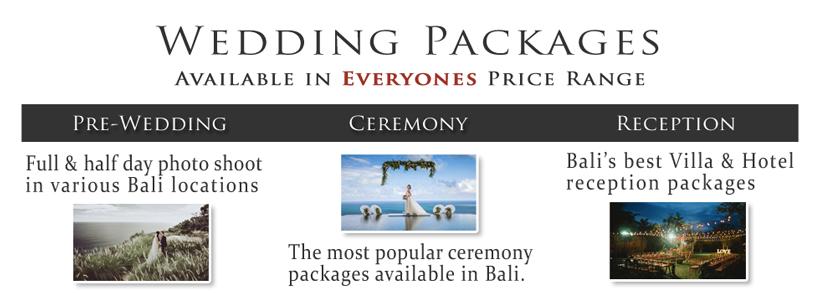 Bali Wedding Planner & Organizer Packages