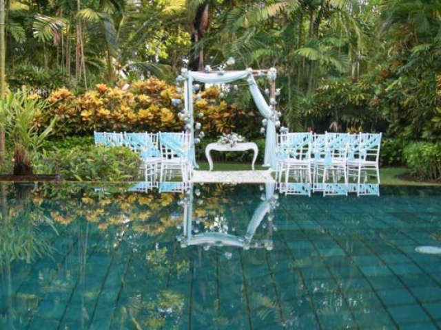 Melia Bali Beach Wedding Ceremony