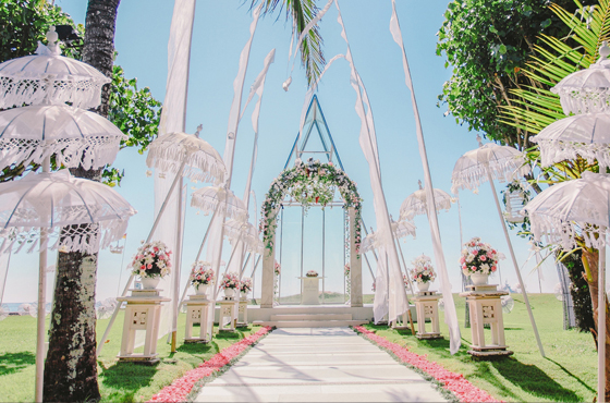 The Grand Mirage Chapel Wedding Ceremony Bali