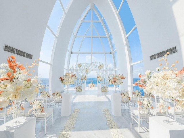 Fantasy Chapel Wedding Decor