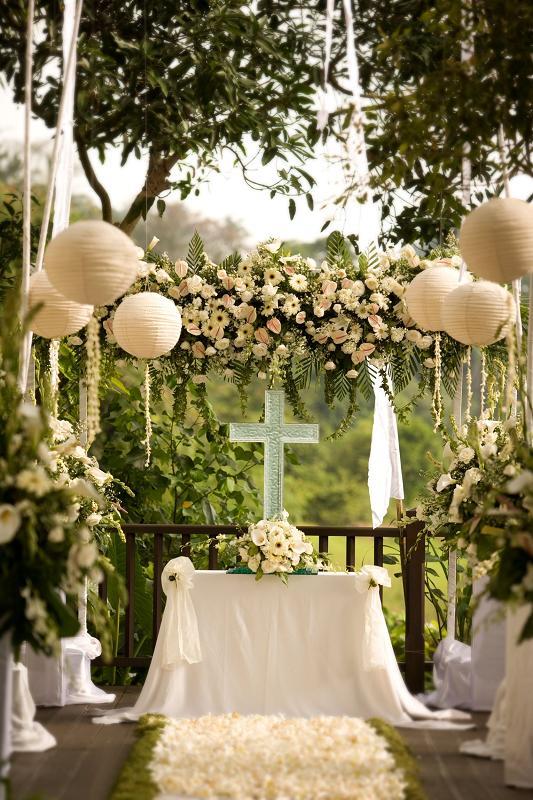 Kayumanis Ubud Wedding Set up